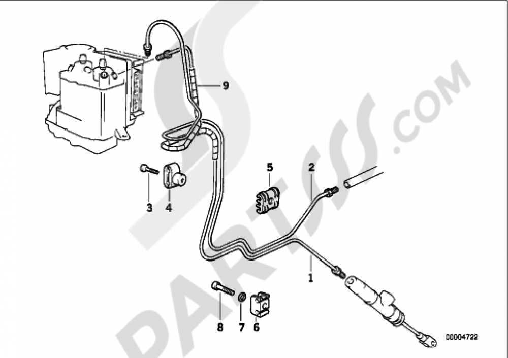 BRAKE PIPE REAR ABS Bmw R850R R850R (259R)