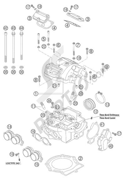 KTM 450 SXS RACING 2004 EU Dissassembly sheet. Purchase