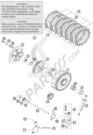 Despiece KTM 125 SX 2003 EU | Repuestos originales KTM 125 SX