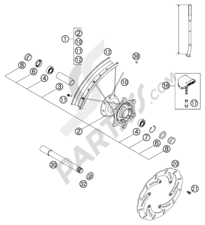CLUTCH COVER 250/300/380 KTM 250 EXC 2002 EU