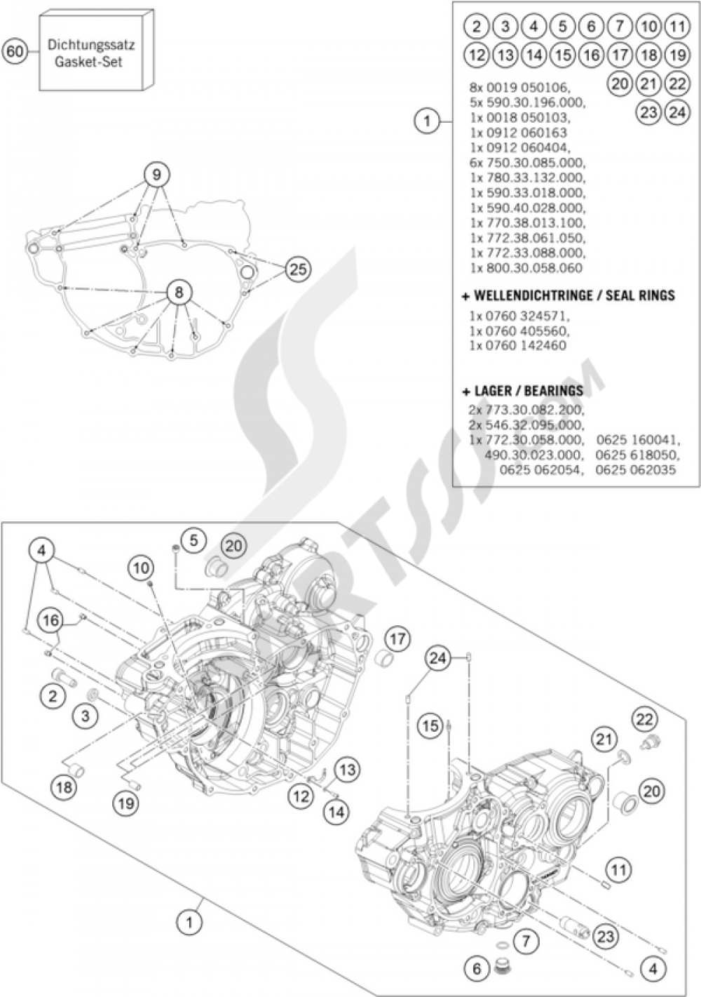 hight resolution of ktm motorcycle350 exc f engine case 1000 png