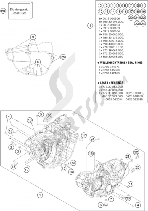 small resolution of ktm motorcycle350 exc f engine case 1000 png