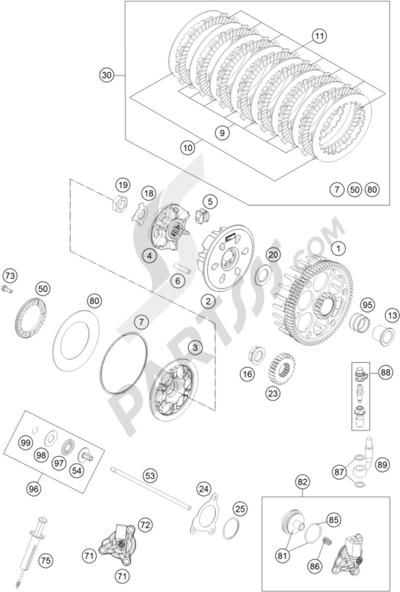 Sezionamenti di ricambi KTM 350 EXC-F SIX-DAYS 2016 EU
