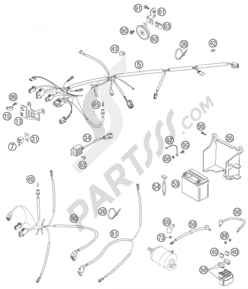 medium resolution of ktm motorcycle450 exc racing wiring harness 1000 png