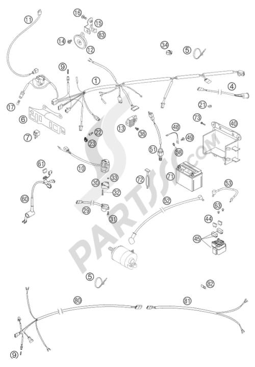 small resolution of wiring harness racing eu aus ktm 525 exc racing six days 2004 eu rh partsss com