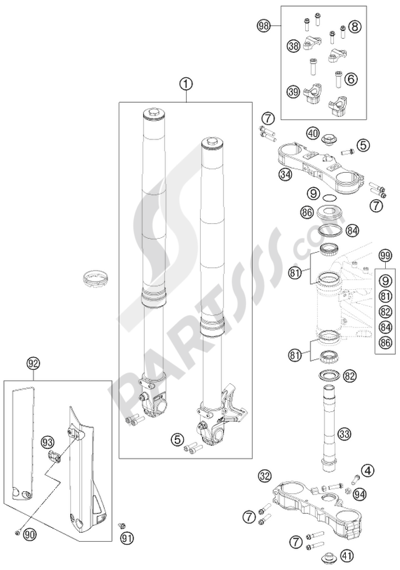 KTM 690 SMC R 2012 EU. 分解図 純正部品をオンライン購入