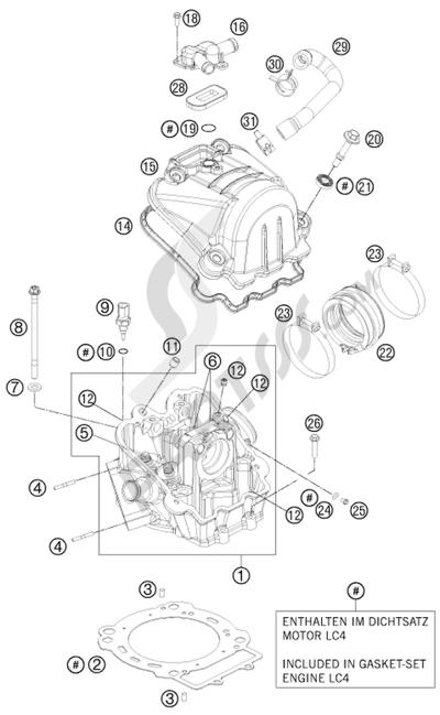 KTM 690 SMC R 2013 EU Dissassembly sheet. Purchase genuine