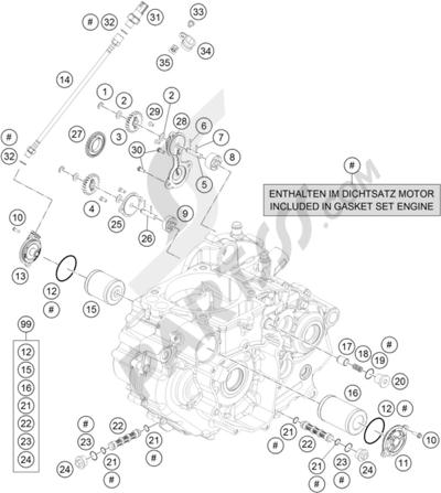 Sezionamenti di ricambi KTM 690 SMC R ABS 2016 EU. Compra