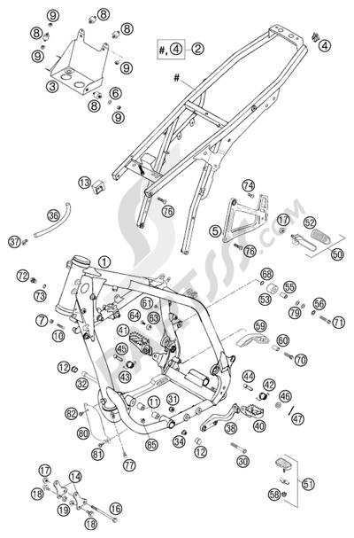 KTM 640 LC4-E SUPERMOTO STAH 2002 EU Dissassembly sheet