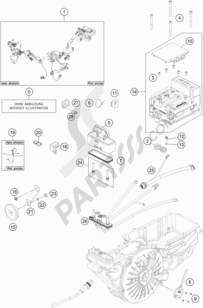 KTM FREERIDE E-SM 2015 EU. 分解図 純正部品をオンライン購入