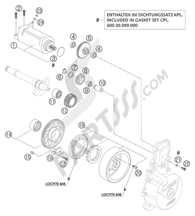 KTM 950 ADVENTURE S ORANGE 2003 EU Dissassembly sheet