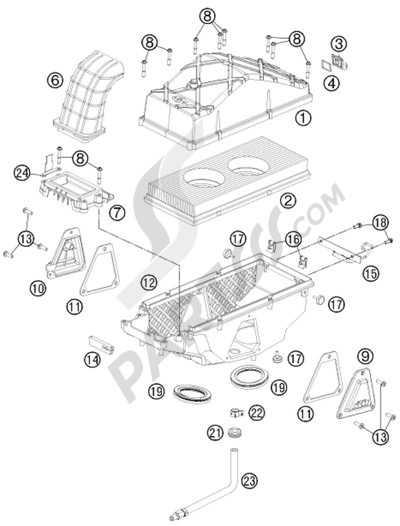 KTM 990 ADVENTURE ORANGE ABS 2006 EU Dissassembly sheet