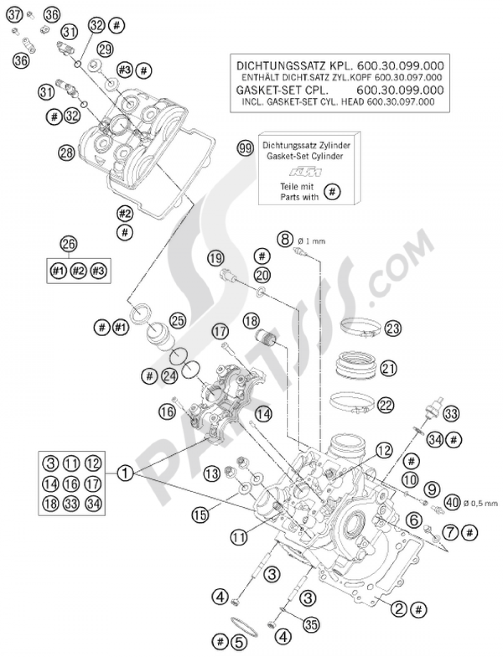 hight resolution of ktm motorcycle990 adventure white ab cylinder head front 1000 png
