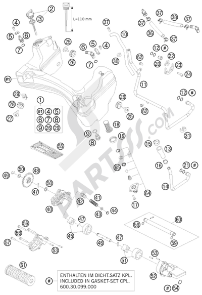 KTM 990 ADVENTURE S 2008 EU Dissassembly sheet. Purchase