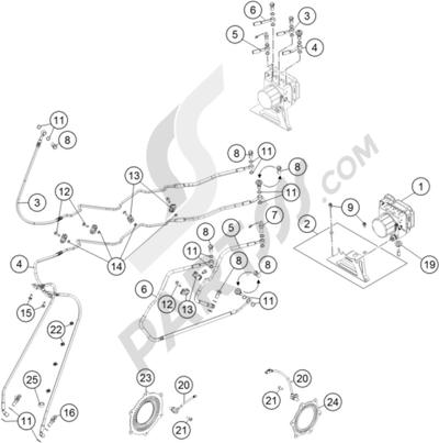 KTM 1190 ADVENTURE R ABS 2015 EU. 分解図 純正部品をオンライン購入