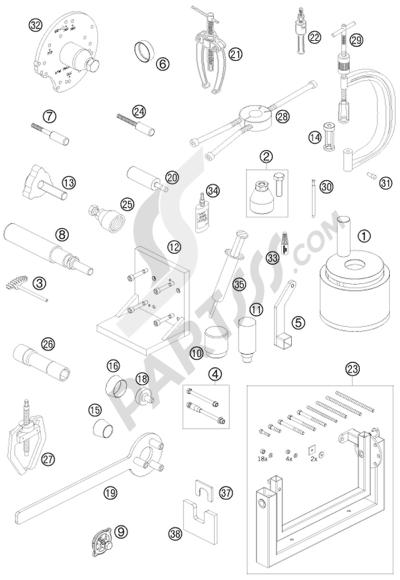 KTM 690 ENDURO R 2009 EU. 分解図 純正部品をオンライン購入