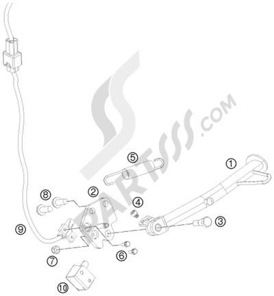 ENGINE CASE KTM 125 DUKE ORANGE 2012 EU