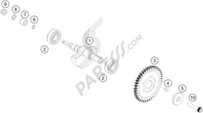 KTM 125 DUKE WHITE ABS B.D. 2016 EU. 分解図 純正部品をオンライン購入