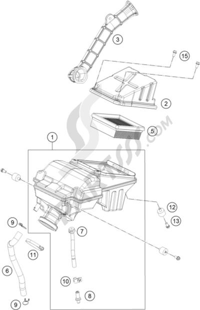 KTM 200 DUKE WHITE ABS CKD 2013 EU. 分解図 純正部品をオンライン購入