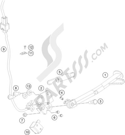 KTM 200 DUKE WHITE w/o ABS B. 2013 EU. 分解図 純正部品をオンライン購入