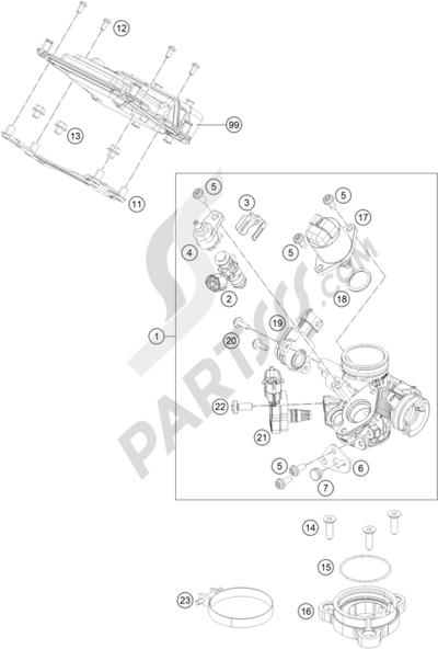 KTM 200 DUKE OR. W/O ABS B.D. 2015 EU. 分解図 純正部品をオンライン購入