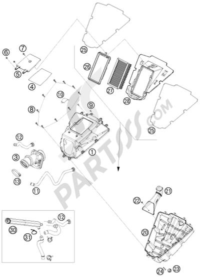 KTM 690 DUKE ORANGE 2008 EU Dissassembly sheet. Purchase