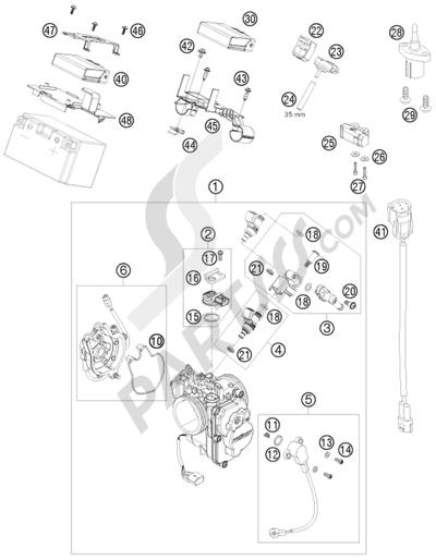 KTM 690 DUKE BLACK 2009 EU Dissassembly sheet. Purchase
