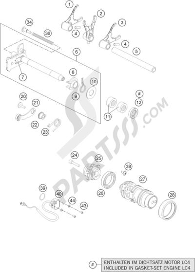 KTM 690 DUKE BLACK ABS 2013 EU. 分解図 純正部品をオンライン購入