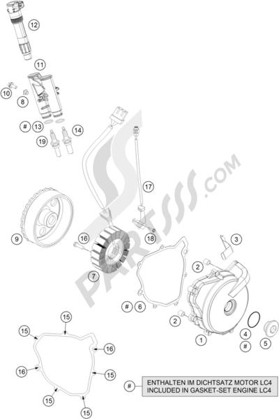 KTM 690 DUKE ORANGE ABS 2016 EU Dissassembly sheet