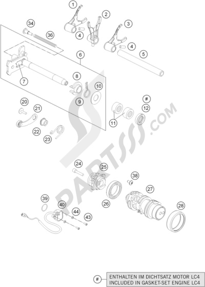 KTM 690 DUKE ORANGE ABS 2016 EU Dissassembly sheet