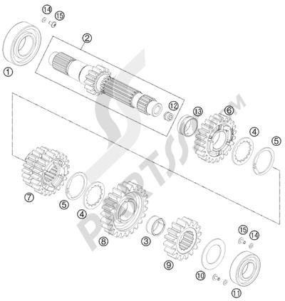 KTM 690 DUKE R 2011 EU Dissassembly sheet. Purchase