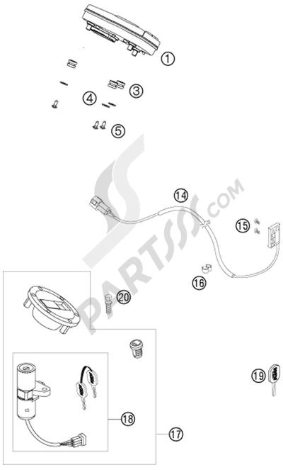Sezionamenti di ricambi KTM 990 SUPER DUKE ANTHRAZIT 2007