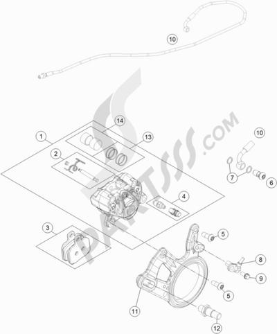 KTM 1290 SUPERDUKE R BLACK AB 2015 EU Dissassembly sheet