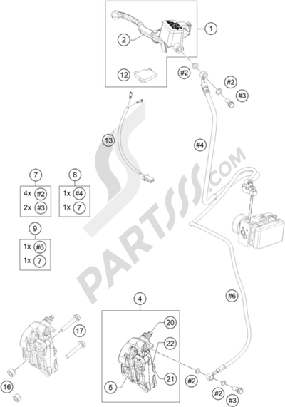 KTM RC 390 WHITE / ABS 2014 EU Dissassembly sheet