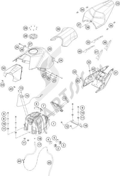 KTM RC 390 WHITE / ABS 2015 EU Dissassembly sheet