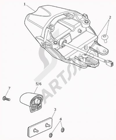 Triumph DAYTONA 675R VIN FROM 564948. 分解図 純正部品をオンライン購入