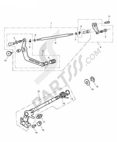 Triumph DAYTONA 675 VIN FROM 381275. 分解図 純正部品をオンライン購入