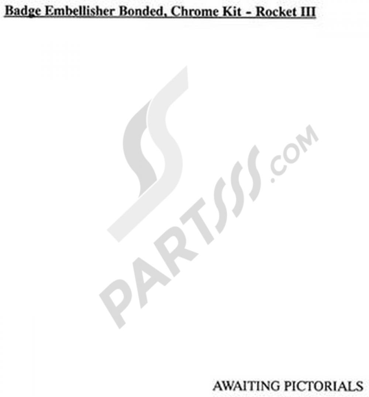 Badge Embellisher Bonded, Chrome Kit Triumph ROCKET III
