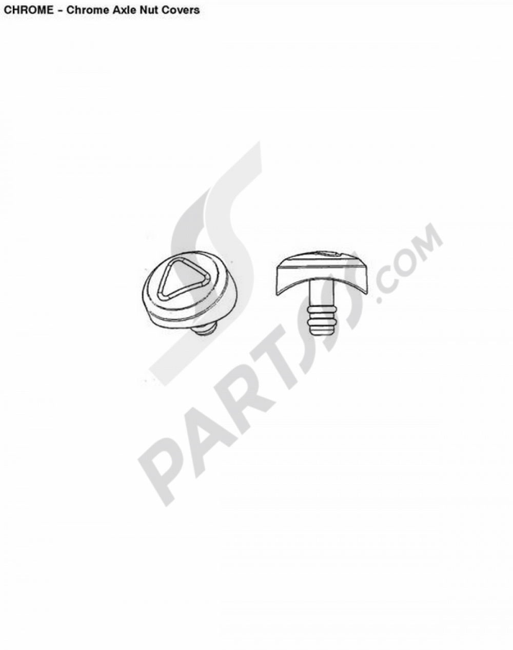 Chrome Axle Nut Covers Triumph ROCKET III CLASSIC & ROADSTER