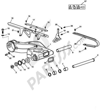 Triumph SPRINT ST VIN FROM 208167. 分解図 純正部品をオンライン購入