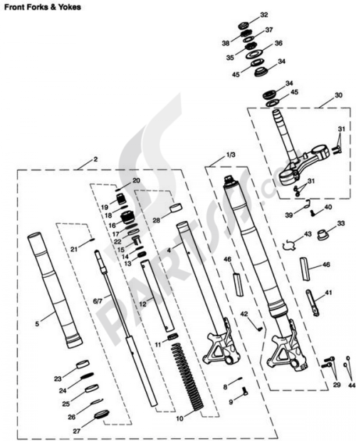 small resolution of triumphtiger 1050front forks yokes 1000 png