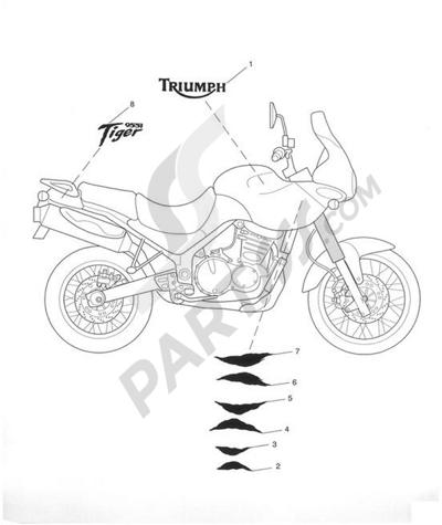 Despiece Triumph TIGER 955i VIN FROM 198875 UNTIL 287503