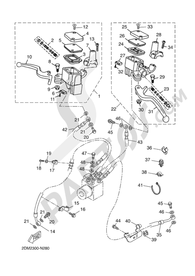 Yamaha X-Max 250 ABS 2016 Dissassembly sheet. Purchase