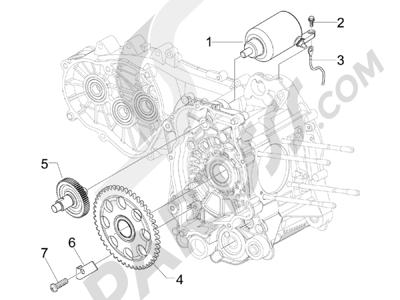 Despiece Piaggio BEVERLY 125 RST 4V ie E3 2010-2011-2012