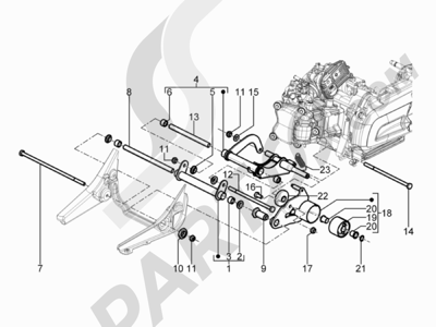 Despiece Piaggio BEVERLY 300 RST/S 4T 4V IE E3 2010-2015