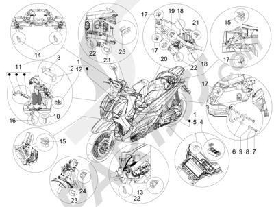 Despiece Piaggio Beverly 350 4T 4V ie E3 Sport Touring