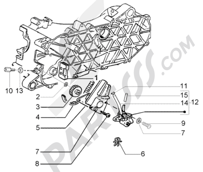 Piaggio Fly 50 2T 1998-2005 Dissassembly sheet. Purchase