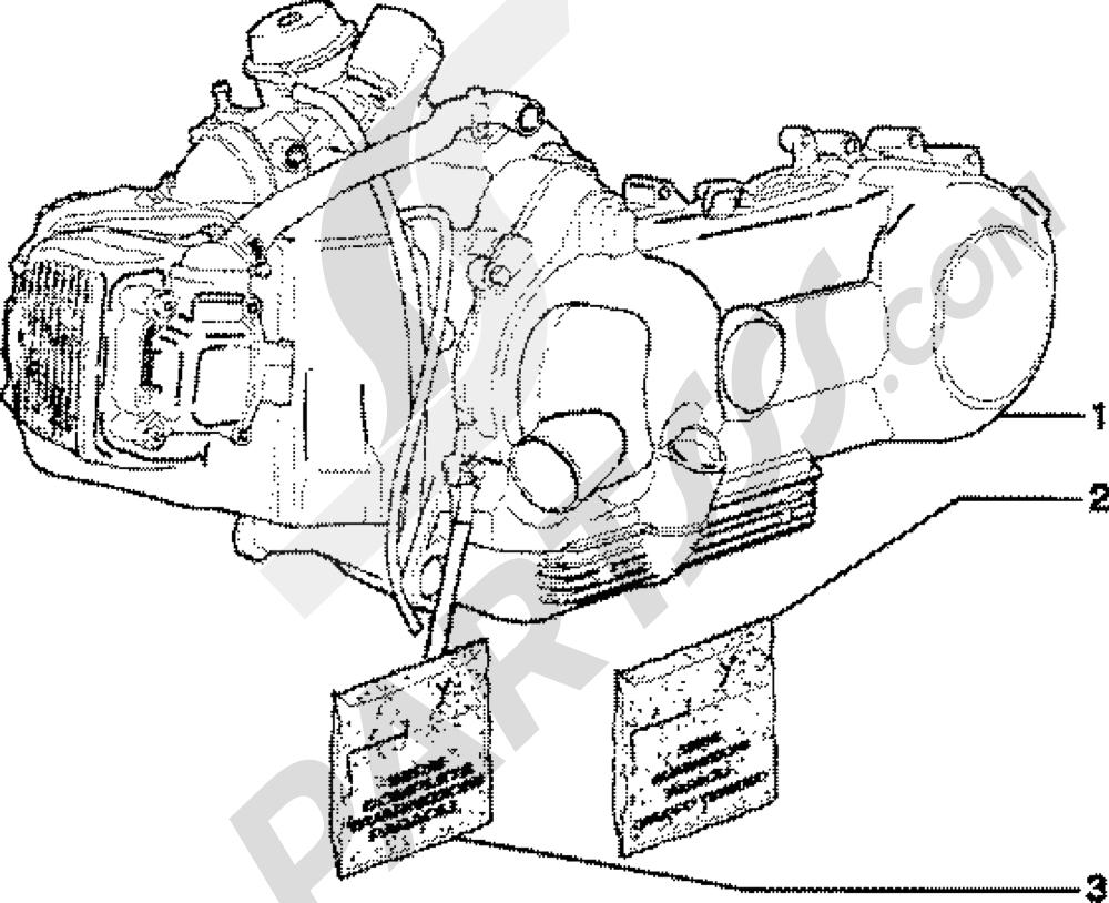 Motor Piaggio Skipper 150 4T 1998-2005