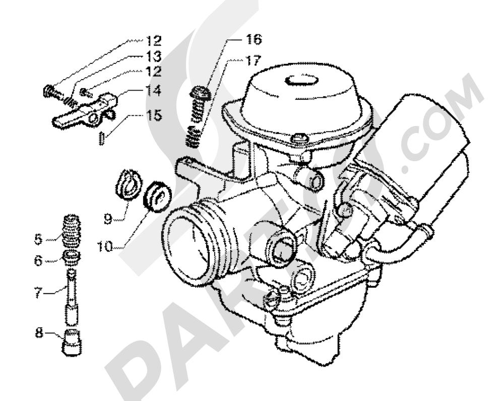 CARBURATEUR Piaggio X9 125 SL 1998-2005
