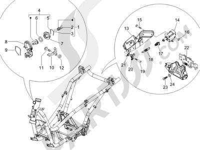 Despiece Piaggio X9 500 Evolution ABS 2006-2007